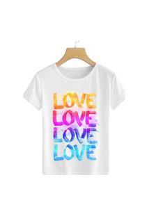 Camiseta Coolest Love Love Love Branco