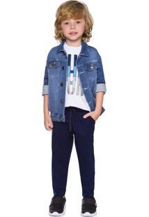 Jaqueta Jeans Infantil Milon Azul