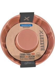 Forma Para Bolo Bakery- Bronze- 6,5X28,5X26,5Cmtramontina