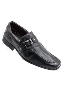 Sapato Social Calprado S/ Cadarço Preto Calprado Preto