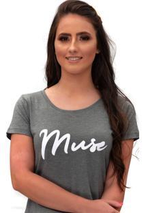 Camiseta Miss Glamour Store Muse Chumbo