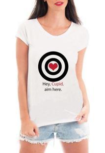 Camiseta Criativa Urbana Cupido Solteira - Feminino