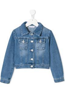 Chiara Ferragni Kids Logomania Denim Jacket - Azul