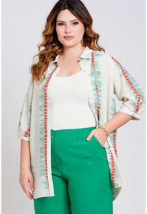 Camisa Oversized Almaria Plus Size New Umbi Estamp