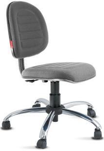Cadeira Escritório Executiva Costura Premium Cinza