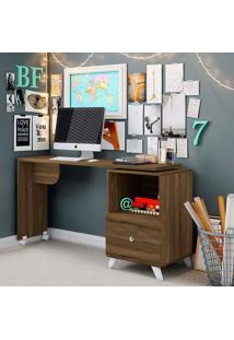 Mesa Para Computador Com Tampo Giratório E 1 Gaveta Carinho – Albatroz - Cedro