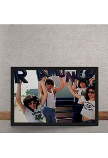 Quadro Decorativo Ramones Letras 25X35