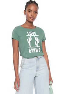 Camiseta Dzarm Love Verde