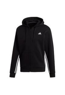 Jaqueta Adidas M Mh 3S Fz Preto