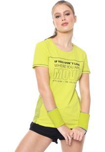 Camiseta Alto Giro Recortes Verde/Preta
