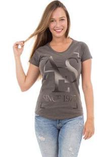 Camiseta Aes 1975 Grey Feminina - Feminino