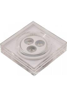 Spot De Led De Embutir Glow Quadrado 3X1W Bella Iluminação - Caixa Com 5 Unidade - Acetinado