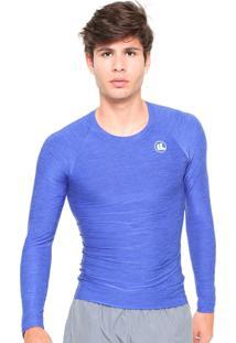 Camisa Térmica Esporte Legal Manga Longa Start Masculina Azul