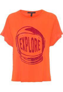 Camiseta Feminina Explore - Laranja