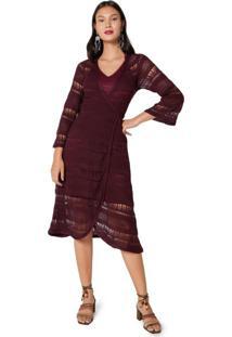Vestido Tricot Transpassado Amarração