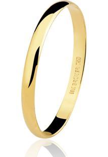 Aliança Kumbayá Lisa Em Ouro 18K Com 2,5 Mm De Largura Dourado