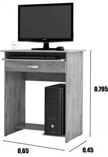 Mesa Para Computador 1 Gaveta Pratica Ej Móveis Branco