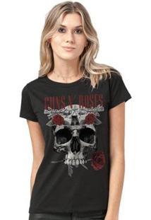 Camiseta Bandup! Guns N' Roses Skull Feminina - Feminino