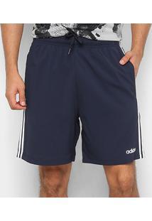 Bermuda Adidas 3S Chelsea Masculina - Masculino-Marinho+Branco