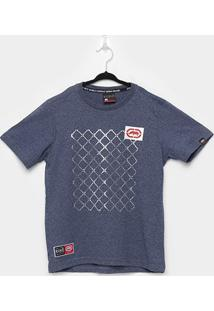 Camiseta Juvenil Ecko Básica Masculina - Masculino-Azul+Mescla