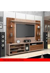 Painel Para Tv 50 Polegadas Atenas Santana E Ameixa Negra 240 Cm