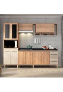 Cozinha Compacta C/Tampo Allure07 Fosco – Fellicci - Carvalho / Blanche
