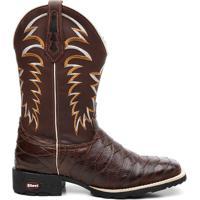 Bota Texana Crazy Horse Cafe Escamada - Masculino-Marrom 73f15e3e5d471