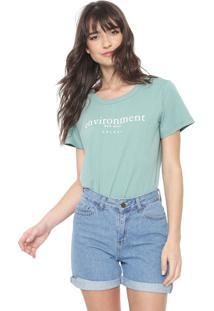 Camiseta Colcci Environment Verde