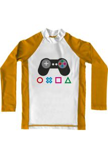 Camiseta De Lycra Comfy Control Amarela