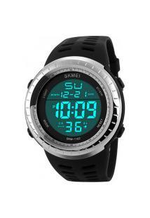 Relógio Skmei Digital -1167- Preto E Prata
