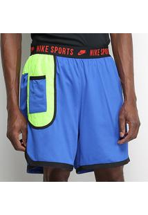 Shorts Nike Dry Dy Masculino - Masculino-Azul+Vermelho