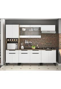 Cozinha Compacta Itamaxi V 11 Pt 3 Gv Branca E Castanho