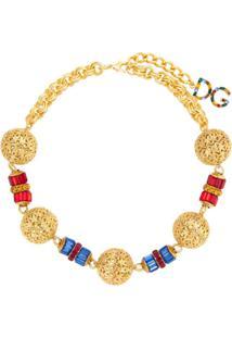 Dolce & Gabbana Colar Com Cristais - Dourado