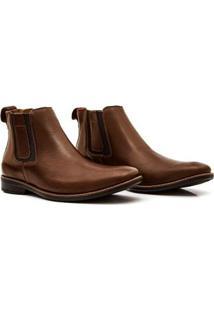 Bota Couro Sollu Soft Comfort Soft Flex 18690 Masculina - Masculino-Verde+Marrom