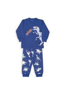 Pijama Moletinho Menino Inverno Dedeka Dinossauro