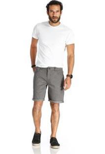 Bermuda Vlcs Jeans Diferenciada Masculina - Masculino-Cinza