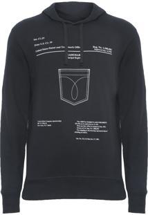 Blusa Masculina De Moletom Bolso - Preto