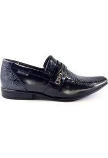 Sapato Social Rafarillo Couro Onix Masculino - Masculino