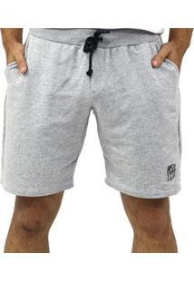 Bermuda Moletom Cordão Bolsos Masculina - Masculino