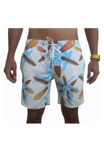 Bermuda Short Tactel E Elastano Moda Praia Opice Estampado Pranchas