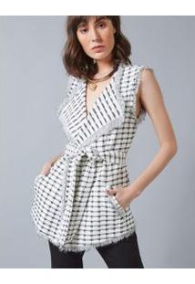 Colete Tweed Branco / G
