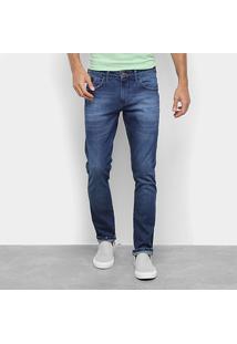 Calça Jeans Slim Triton Gilson Masculina - Masculino-Azul