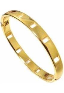 Bracelete Alice Monteiro Banhado A Ouro 18K Feminina - Feminino-Dourado