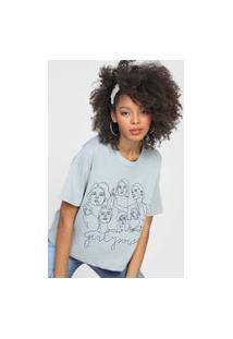 Camiseta Forever 21 Girly Power Cinza