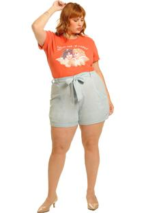 T-Shirt Not Today Angel Coral Vintage And Cats Vermelha