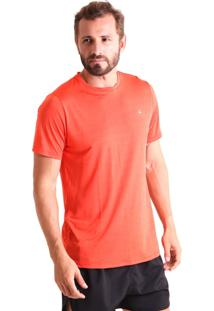 Camiseta Liquido Básica Mescla Boy - Laranja P