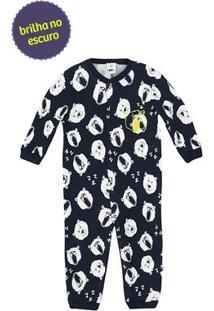 Pijama Macacão Bebê Menino Com Abertura Frontal Por Botões De Pressão Puc [] []