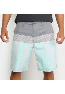 Bermuda Sarja Gajang Listrada Masculina - Masculino-Cinza+Verde