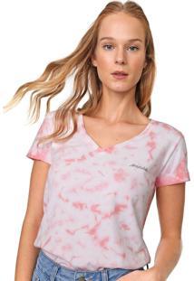 Camiseta Aeropostale Tie Dye Rosa/Branca
