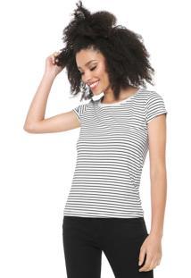 Camiseta Fiveblu Listrada Branca